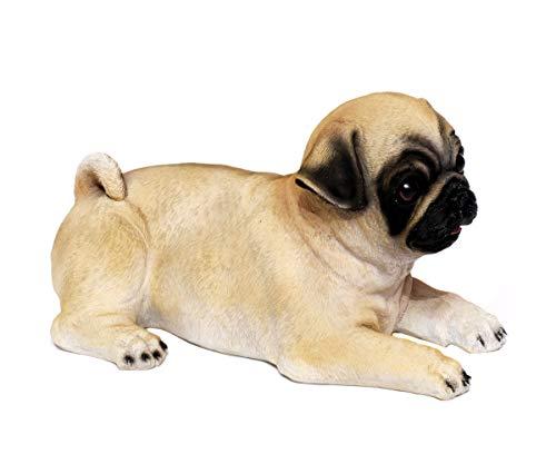 Brillibrum design deco hond labrador tuinfiguur mops hondenwelpen van kunststeen decoratief figuur Mops.