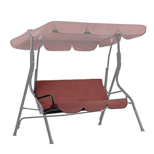 globalqi Hollywoodschaukel Schaukel Kissenbezug Schaukel Sitzbezug Ersatz mit Rückenlehne für 3-Sitzer Schaukel Stuhl Wasserdicht Staubdicht Schutz 150X50X10cm, nur Sitzbezug