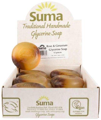 SUMA Rose & Geranium Glycerine Soap 90g (PACK OF 12)