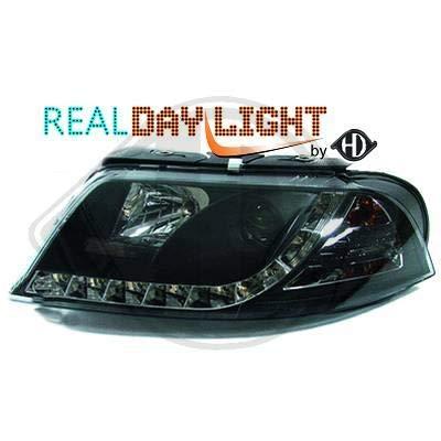2246486 - Par de faros de luz diurna DRL LED negro para Passat Sedan Break 3BG de 2000 a 2005