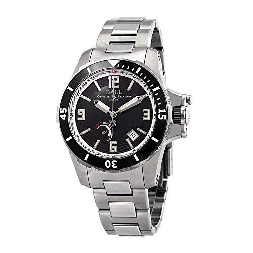 Ball Men's 42mm Black Steel Bracelet Case Automatic Analog Watch PM2096B-S1J-BK
