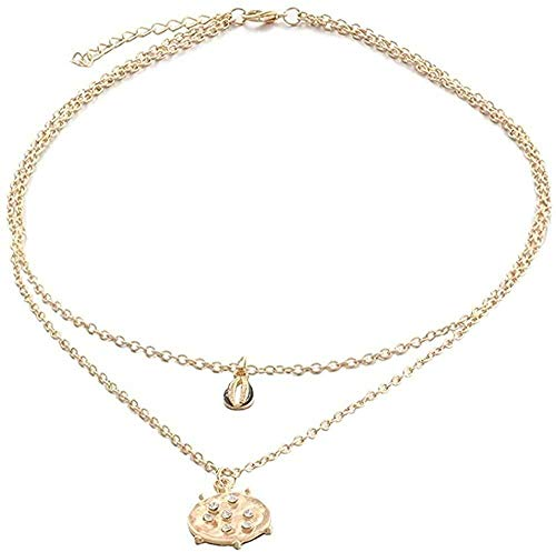 ZJJLWL Co.,ltd Collar Vintage Conch Shell Collar para Mujer Colgante con Forma Simple Seashell Ocean Beach B Joyería