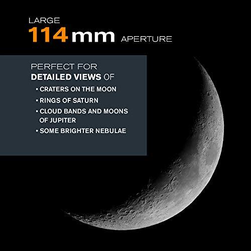Celestron Astro Master 114eq - Telescopio, Plateado