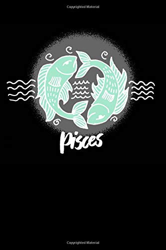 Pisces: 6x9 Lined Writing Notebook Journal, 120 Pages