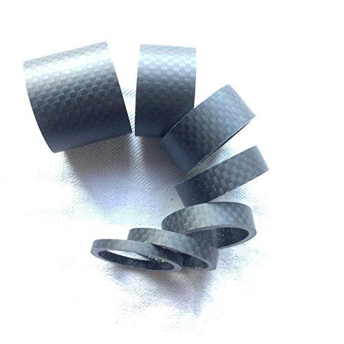 1 set di distanziali in carbonio lucido 1/8',3/5/8/10/15/20/30mm, opaco