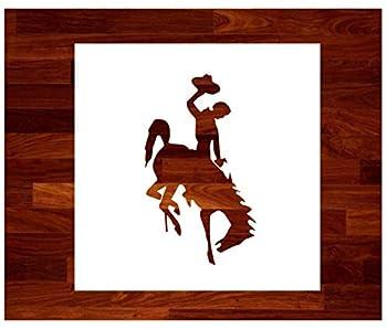 Wyoming Bucking Bronco ~ Stencil ~ 11  OVERSIZED ~ Custom Stencil