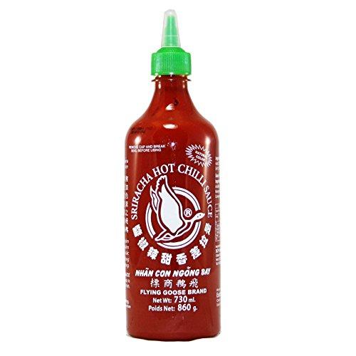Flying Goose Sriracha Salsa di peperoncino piccante 730 ml (confezione da 2 pezzi)