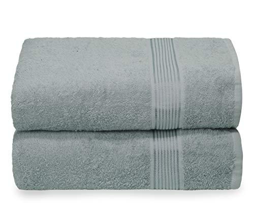 GLAMBURG Juego de 2 Toallas de baño de Gran tamaño de 70 x 140 cm, Toallas de baño Grandes, Ultra Absorbente Compacto, Secado rápido y Ligero, Color Jade