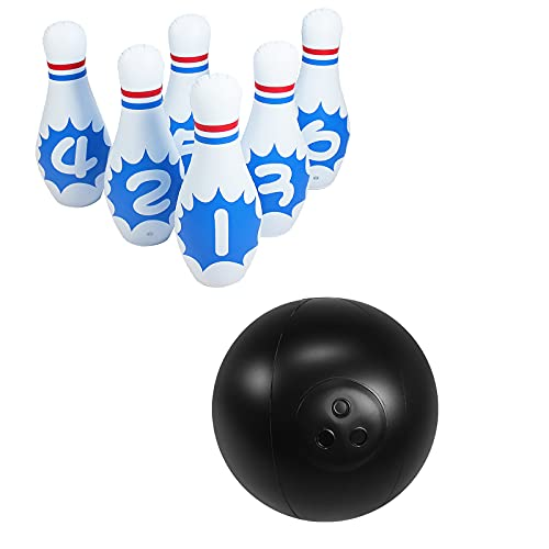 RONGXIANMA Bowling-Spielzeug Bowling-Spiel-Spielzeug Indoor-Familien-Spielzeug Aufblasbares Bowling-Spiel-Spielzeug-Set
