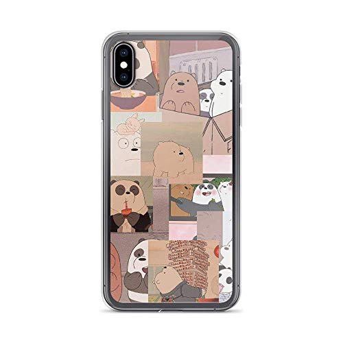 zawhz Compatible with iPhone 11 X/XS Case We Bare Bears Slice Daily American Animated Series Pure Clear Phone Cases Cover