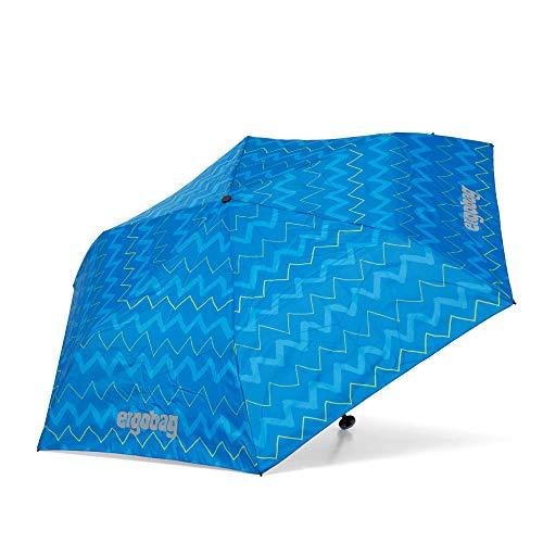 ergobag Regenschirm Schultaschenschirm für Kinder, extra leicht mit Tasche, Ø90cm - LiBäro 2:0, Blau