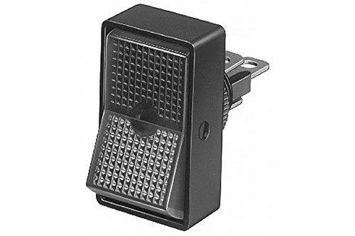 HELLA 6EH 004 407-032 Schalter - Kippbetätigung - Anschlussanzahl: 3 - geschraubt - Bohrung-Ø: 12,5mm - Ein/Aus Schalter/Wechsler - Schalterbeleuchtung: grün