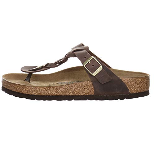 Birkenstock Gizeh Braided Habana Oiled Leather Donna