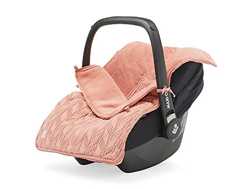 Jollein 025-811-66037 Spring Knit - Saco de abrigo para silla de bebé (tejido de punto, madera de rosewood)