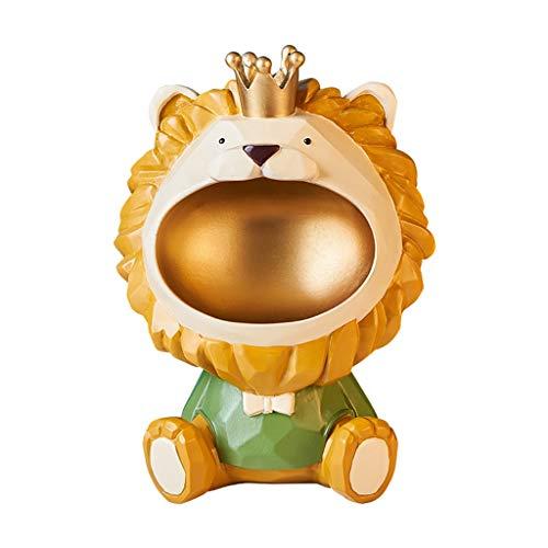 YXCKG Key Bowl, Cute Lion Key Tray Organizer, Bandeja Decorativa De Resina, Bandeja De Joyería, Cuenco Decorativo De Escritorio para Entrada, Regalo De Inauguración De La Casa