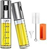 Leaflai Pulverizadores de aceite para cocina, pulverizadores de aceite de oliva, botellas rellenables con embudo de cepillo de aceite para cocinar, asar, ensalada, hornear (2 unidades)