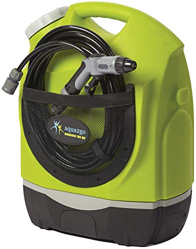 Aqua2Go GD605 Multipurpose Outdoor Portable Spray Washer with Rechargeable Lithium Battery, 17 LTR/4.5 Gal Water Tank, Up to 130.5 psi, Hose Length of 19.5 ft (2019 Model)