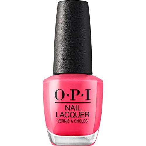 OPI Nail Lacquer Strawberry Margarita – Nagellack in Pink mit bis zu 7 Tagen Halt – Ergiebig, langlebig & splitterfest – Nr.: NLM23 – 15ml