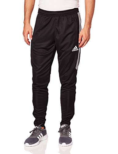 adidas Men's Soccer Tiro 17 Pants, Small, Black/White/White