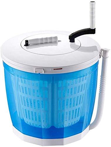QUZHCP Lavadora portátil, Portátil De Manivela Manual De La Máquina De Lavar La Ropa No Eléctrico, Encimera Lavadora For Acampar, Apartamentos