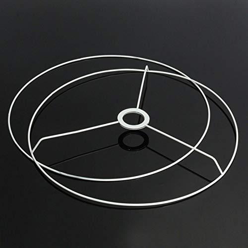 LQCN Runder Lampenschirm Rahmen Ring 9,5/11/12/14/20/30 / 40cm Durchmesser Lampe Lichtschirm DIY Making Set Eisen E27 Lampenschirm Rahmen, 40cm