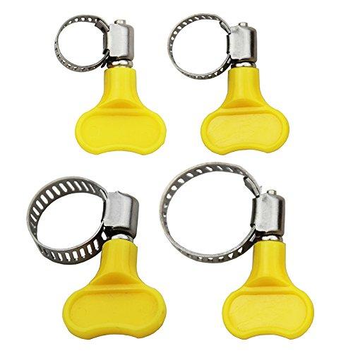 Edelstahl Schmetterling 10Stück Schlauchschelle Rohrschelle Kunststoff Tube für Homebrew Fit 16mm OD ~ 25mm OD Plastic Tube gelb