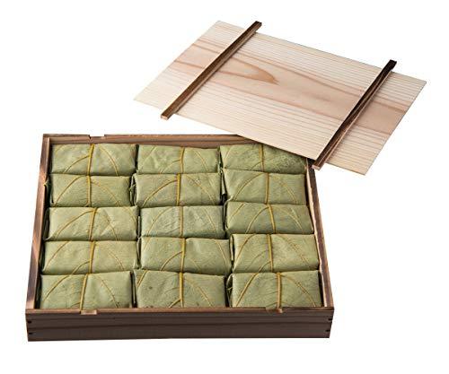 柿の葉ずし 寿司 平宗贈答用 木箱入り 柿の葉寿司 (さば・さけ・金目鯛・あなご・海老) 20個入り20-5