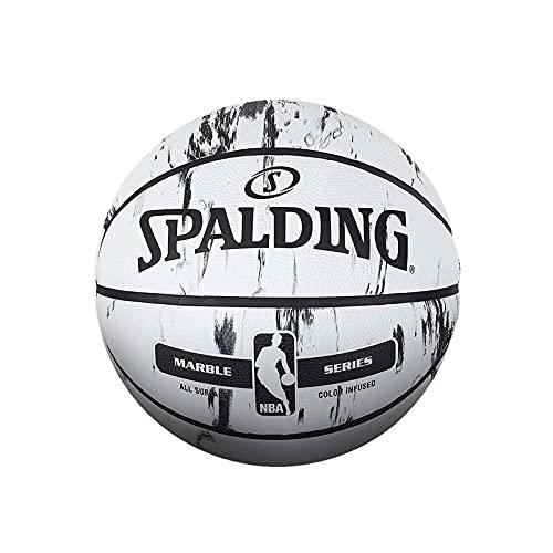 Ballon de Baloncesto Balón De Baloncesto De La Serie Marble, Tamaño Oficial 7, Material De Goma, para Exteriores, para Hombre