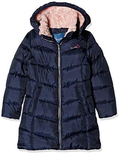 Sanetta Mädchen Outdoorcoat Fake Down Jacke, Blau (Nordic Blue 5962), 92 (Herstellergröße: 092)
