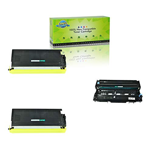 NineLeaf Compatible Toner Cartridge & Drum Unit Replacements for TN-560 TN560 High Yield & DR-500 DR500 DCP-8020 D/8025D HL-1650/1850/5040/5050 MFC-8420/8820/8820DN (2 Toner 1 Drum, 3 Pack)