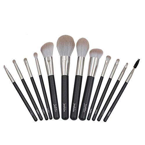 Pinceau De Maquillage Poudre Libre Blush Brush Fard À Paupières Brush Repair Volume Foundation Brush, 12 Pinceaux Nude