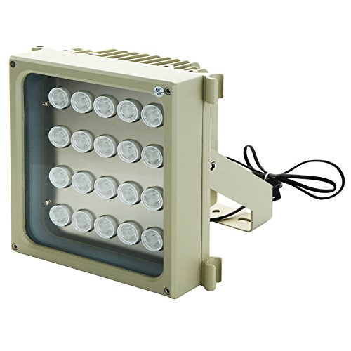 EnergyPower 業務用超強力赤外線ライト S20D-IR 940nm不可視タイプ 照射距離90メートル ワイド照射角90度 2Wの強力LEDを20個搭載した赤外線投光器 IP66防水防塵 明るさセンサーで自動点灯 防犯・監視カメラ用 セキュリティ