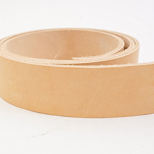 "#2 Vegetable Tan Import Cowhide Leather Strip 8/9 oz (1-1/2""x50"")"
