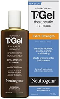 Neutrogena T-Gel Therapeutic Shampoo, Extra Strength, 6 Ounce (Pack of 2)