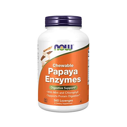 NOW Foods Enzima De Papaya, Masticable 360 Unidades 360 g
