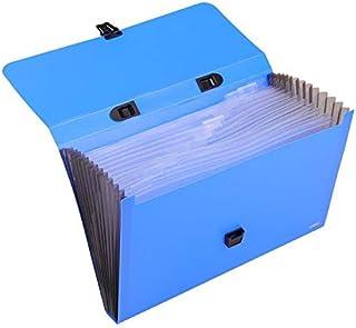 DELI EB40602 EXPANDING FILE SNAP FC 13 POCKET BLUE