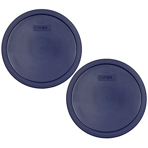 Pyrex 7403-PC 10 Cup Blue Round Plastic Storage Lid - 2 Pack