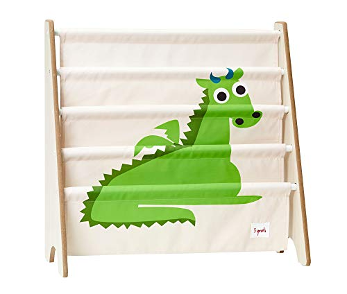 3 Sprouts - Porta libri - Scaffale porta libri per bambini, mobili libreria, libreria per bambini, Drago