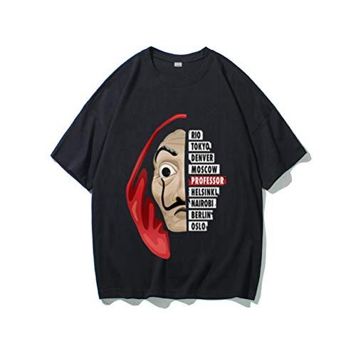 La Casa de Papel T-shirt met korte mouwen voor heren en dames, Tokyo Professor Film en Netflix TV Serie