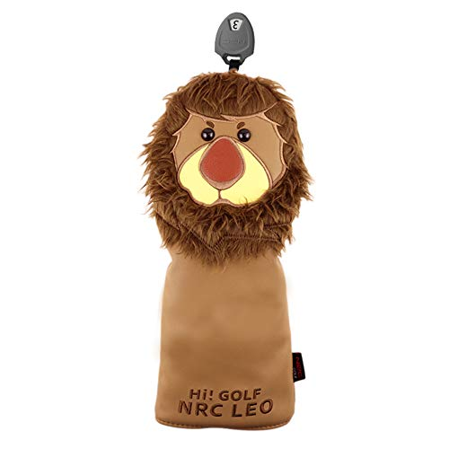 HELLO NRC Golf Head Covers Club Covers for Driver Fairway Woods Hybrid Lion Protector Headcover PU...