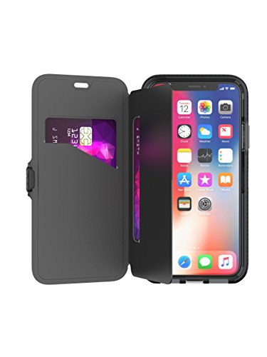 tech21 Evo Wallet Phone Case for iPhone X Xs - Black (T21-5860)