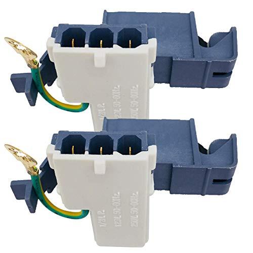 JJDD Vervanging 8318084 Washer Deur Deksel Schakelaar Deel 3 Pin voor Whirlpool Roper Kenmore Wasmachine vervangt AP3180933 PS886960 PN8318084 WP8318084 ER8318084 2pcs