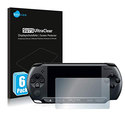 Savvies 6X Schutzfolie kompatibel mit Sony PSP 1000 Bildschirmschutz-Folie Ultra-transparent