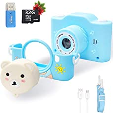 Kids Camera, 40MP kids Digital Camera with Built-in MP3 Player, HD Video Camera with 32GB SD Card, 2.0 Inch IPS Screen, Toy Camera for Boys and Girls Age 2-12, Toddler Christmas Birthday Gifts