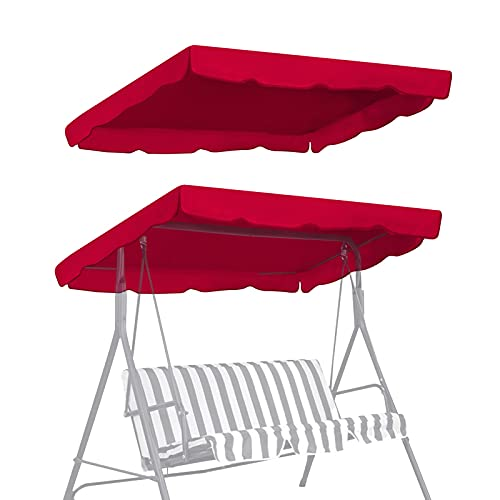 BenefitUSA Swing Canopy Cover ONLY 77'x43' - Polyester Top Replacement UV Block Sun Shade for Outdoor Garden Patio Yard Park Porch Seat Furniture (Burgundy)