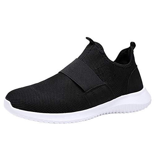 HROIJSL Mode Herren atmungsaktive Laufschuhe Freizeitschuhe Sportschuhe Berufsschuhe Schuhe Trainer Run Einfach zu tragen ausziehen Turnschuhe Runner Ineinander Mode Sportschuhe