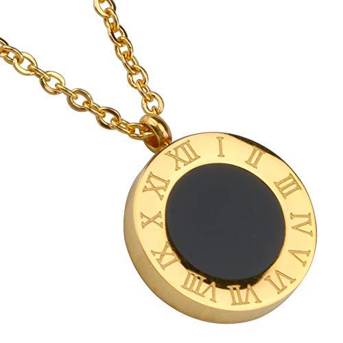 [silver KYASYA]お洒落 ネックレス コイン ペンダント ローマ字 レディース アクセサリー シンプル ネックレス ゴールド シルバー ローズゴールド (ゴールド)