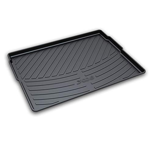 NTUOO Coche Alfombrillas Maletero, para Peugeot 3008 2011 2012 2013 2014 2015 2016 2017 2018 2019 Trunk Mat Tray Boot Liner Cargo Moquetas Protector Floor Pads, Auto Interior Accessories