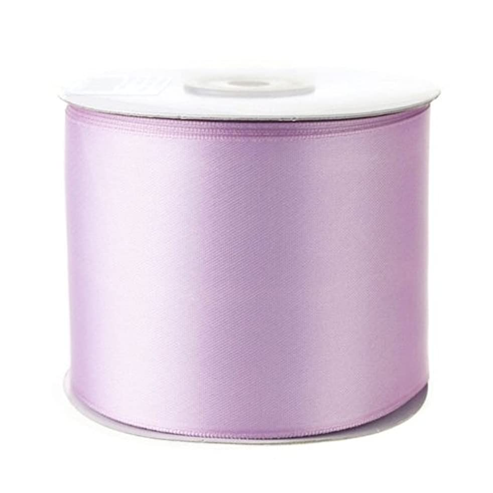 Homeford Firefly Imports Double Face Satin Ribbon, 2-1/2-Inch, 25 Yards, Lavender, 2.5