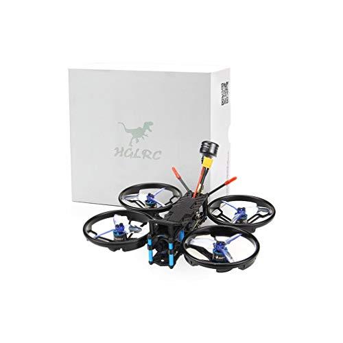 WXZQ HGLRC Sector132 1080P Kit de Cuadro de 2,5/3 Pulgadas 132 mm Distancia Entre Ejes 3K Marco de Fibra de Carbono FPV Kit de Cuadro de Drone de Carreras Negro PNP